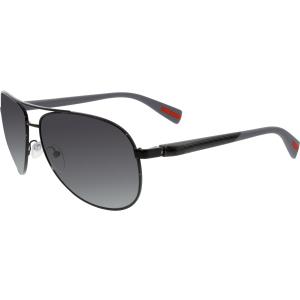 Prada Men's Polarized  PS51OS-7AX5W1-62 Black Aviator Sunglasses