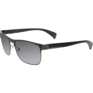 Prada Men's Polarized  PR51OS-DHG5W1-58 Grey Rectangle Sunglasses