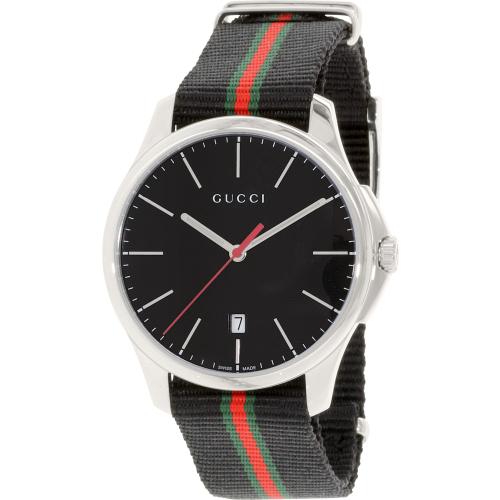 d8b5515a825 ... UPC 731903361782 product image for Gucci Men s G-Timeless YA126321  Black Nylon Swiss Quartz Watch