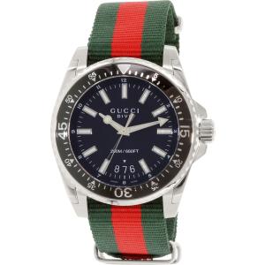 Gucci Men's Dive YA136206 Silver Nylon Swiss Quartz Watch