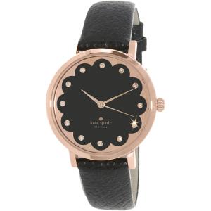 Kate Spade Women's Metro 1YRU0583 Black Leather Quartz Watch