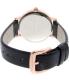 Kate Spade Women's Metro 1YRU0583 Black Leather Quartz Watch - Back Image Swatch