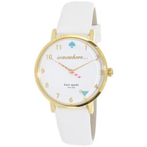Kate Spade Women's Metro 1YRU0765 White Leather Quartz Watch