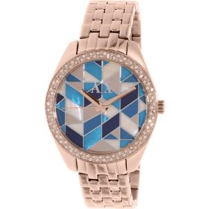 Armani Exchange Women's AX5528 Rose Gold Stainless-Steel Quartz Watch