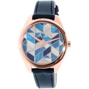 Armani Exchange Women's AX5525 Blue Leather Quartz Watch