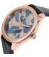 Armani Exchange Women's AX5525 Blue Leather Quartz Watch - Side Image Swatch