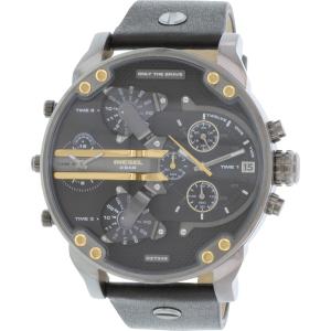 Diesel Men's Mr. Daddy DZ7348 Black Leather Quartz Watch