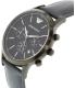 Emporio Armani Men's AR2481 Blue Leather Quartz Watch - Side Image Swatch