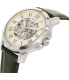 Fossil Men's Grant ME3101 Silver Leather Automatic Watch - Side Image Swatch