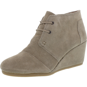 Toms Women's Desert Wedge Boot Ankle-High Suede Boot