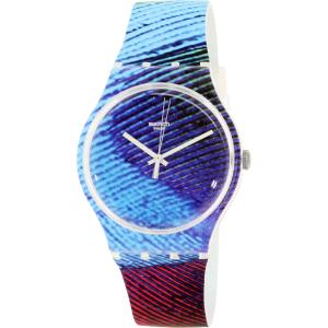 Swatch Men's Originals SUOK113 Multicolor Rubber Quartz Watch