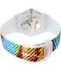 Swatch Men's Originals SUOK113 Multicolor Rubber Quartz Watch - Back Image Swatch