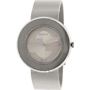 Gucci Women's U-Play YA129415 Silver Stainless-Steel Swiss Quartz Watch
