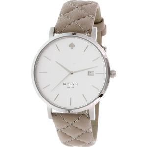 Kate Spade Women's Metro 1YRU0846 Beige Leather Quartz Watch