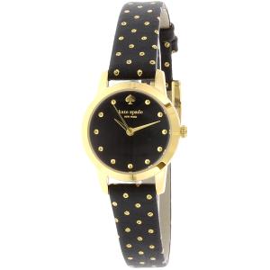 Kate Spade Women's Metro 1YRU0890 Black Leather Quartz Watch