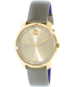 Movado Women's Bold 3600312 Gold Leather Swiss Quartz Watch - Main Image Swatch