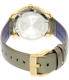 Movado Women's Bold 3600312 Gold Leather Swiss Quartz Watch - Back Image Swatch