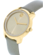 Movado Women's Bold 3600312 Gold Leather Swiss Quartz Watch - Side Image Swatch