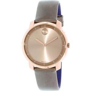 Movado Women's Bold 3600313 Rose Gold Leather Swiss Quartz Watch