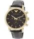 Emporio Armani Men's Dress AR1917 Black Leather Quartz Watch - Main Image Swatch