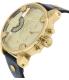 Diesel Men's DZ7363 Black Leather Quartz Watch - Side Image Swatch