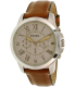 Fossil Men's Grant FS5118 Silver Leather Quartz Watch - Main Image Swatch