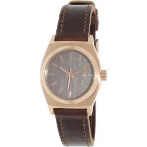Nixon Women's Time Teller A5092001 Brown Leather Quartz Watch