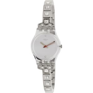 Swatch Women's Originals LK350G Silver Stainless-Steel Quartz Watch
