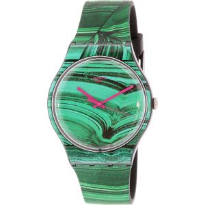 Swatch Women's Originals SUOB122 Green Silicone Swiss Quartz Watch