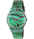 Swatch Women's Originals SUOB122 Green Silicone Swiss Quartz Watch - Main Image Swatch