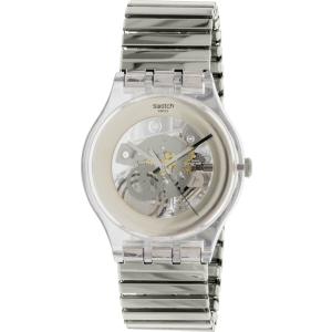 Swatch Men's Originals SUOK105FB Silver Stainless-Steel Swiss Quartz Watch