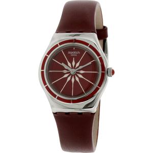 Swatch Women's Irony YSS292 Red Leather Swiss Quartz Watch