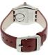 Swatch Women's Irony YSS292 Red Leather Swiss Quartz Watch - Back Image Swatch