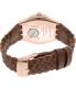 Swatch Men's Irony YWG402 Brown Leather Swiss Quartz Watch - Back Image Swatch