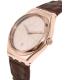 Swatch Men's Irony YWG402 Brown Leather Swiss Quartz Watch - Side Image Swatch