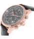 Guess Men's U0500G3 Brown Leather Quartz Watch - Side Image Swatch