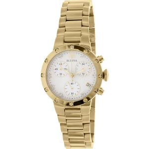 Bulova Women's Maiden Lane 98R216 Gold Stainless-Steel Quartz Watch