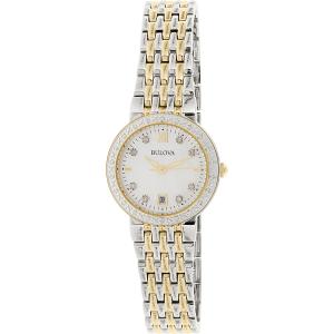 Bulova Women's Maiden Lane 98R211 Silver Stainless-Steel Quartz Watch