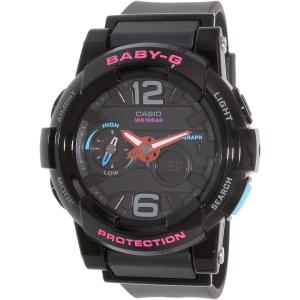 Casio Women's Baby-G BGA180-1B Black Resin Quartz Watch