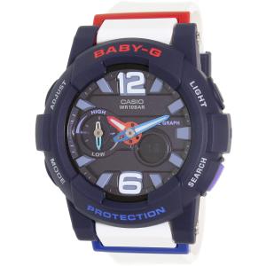Casio Women's Baby-G BGA180-2B2 White Resin Quartz Watch