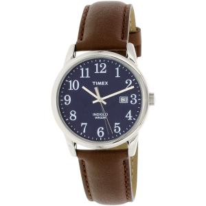 Timex Men's Easy Reader TW2P75900 Brown Leather Quartz Watch