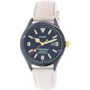Timex Women's Waterbury TW2P74900 Beige Leather Quartz Watch