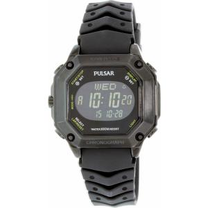 Pulsar Men's On The Go PW3003 Black Silicone Quartz Watch