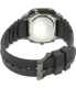 Pulsar Men's On The Go PW3003 Black Silicone Quartz Watch - Back Image Swatch