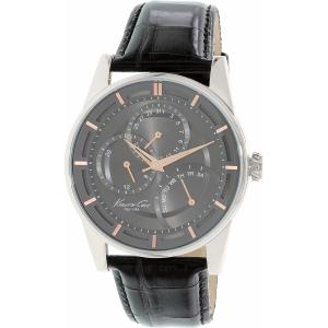 Kenneth Cole Men's 10020813 Black Leather Quartz Watch