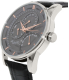 Kenneth Cole Men's 10020813 Black Leather Quartz Watch - Side Image Swatch