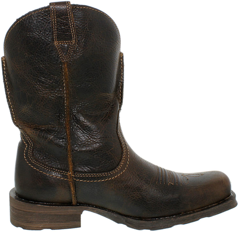 ariat s rambler mid calf leather boot ebay