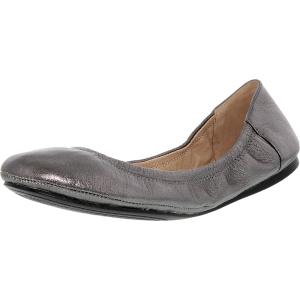 Vince Camuto Women's Ellen Metal Grain Ankle-High Leather Ballet Flat