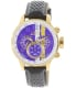 Invicta Men's S1 Rally 19903 Gold Leather Quartz Watch - Main Image Swatch