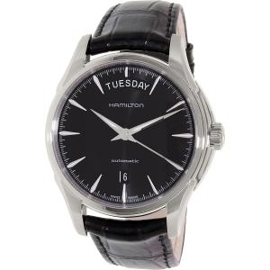 Hamilton Men's Jazzmaster H32505731 Black Leather Swiss Automatic Watch